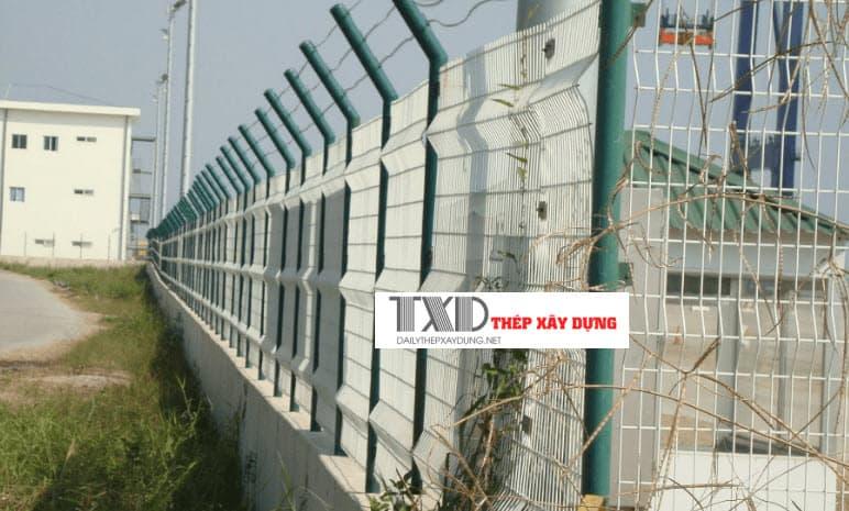 hàng rào lưới thép b40 đẹp