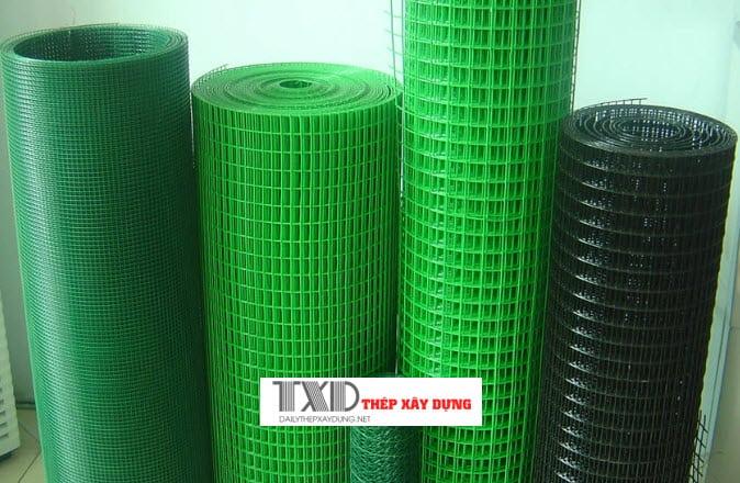 lưới b40 bọc nhựa có nhiều màu sắc