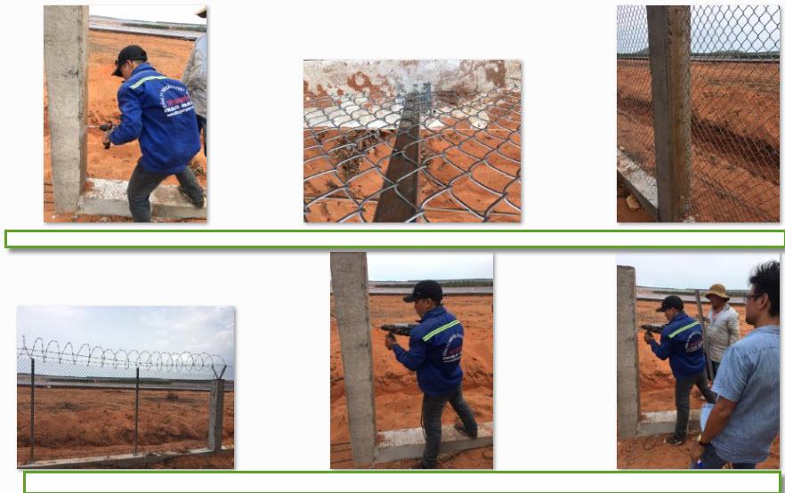 thi công hàng rào lưới b40 tại công trình