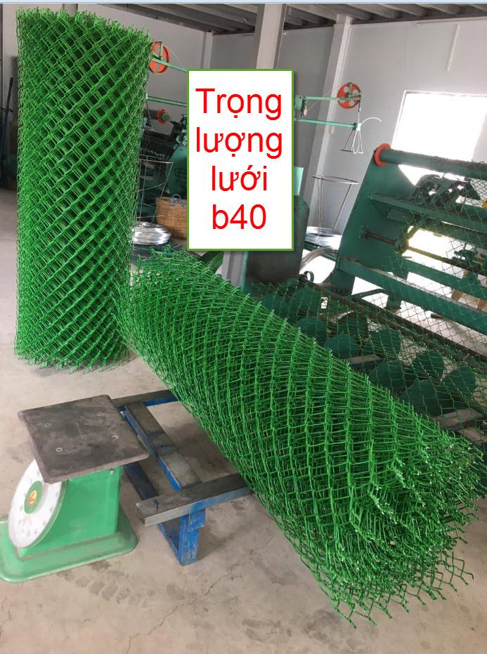 Trọng lượng lưới b40 bọc nhựa