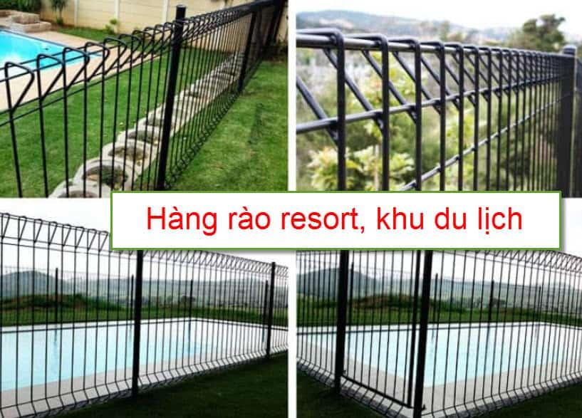 Hàng rào lưới thép hàn bảo vệ khu du lịch, resort