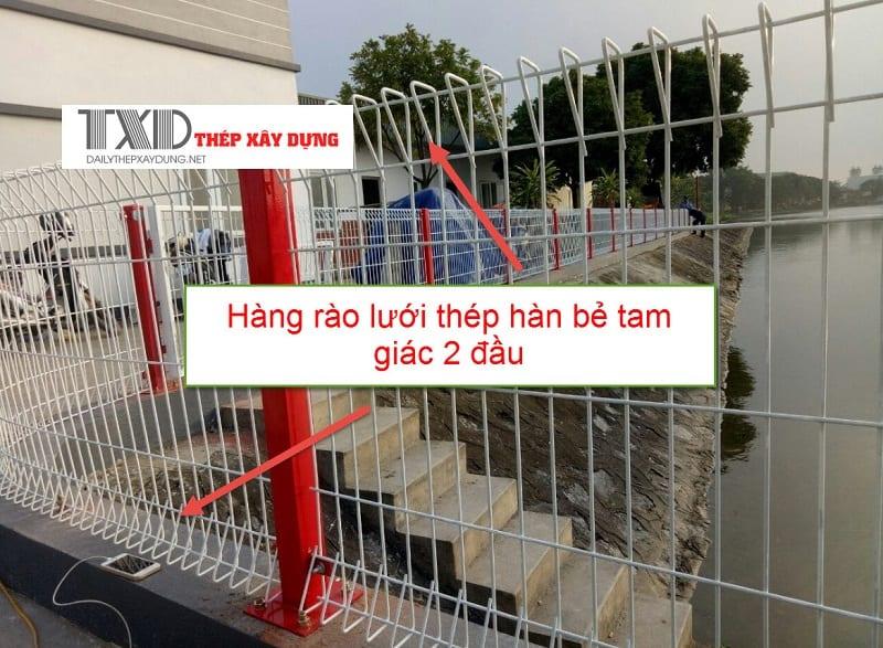 Hàng rào lưới thép hàn bẻ tam giác 2 đầu