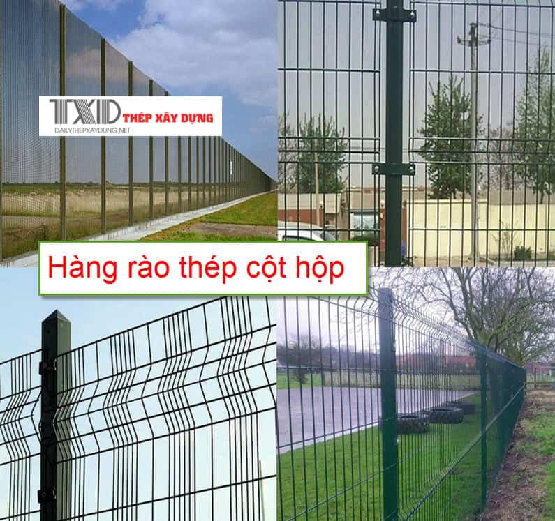 Hàng rào lưới thép hàn dạng cột hộp