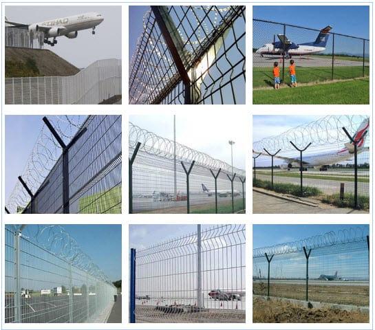 Hàng rào thép hàn cho sân bay