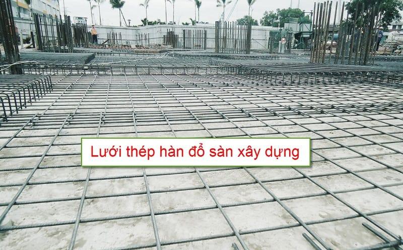 Lưới thép hàn đổ sàn công trình