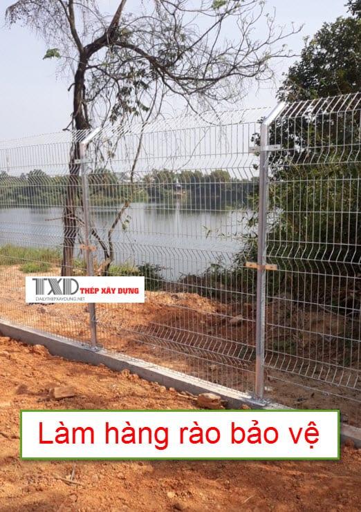 Lưới thép hàn làm hàng rào bảo vệ