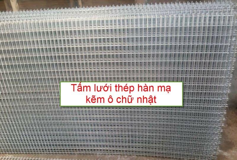 Tấm lưới thép hàn mạ kẽm ô chữ nhật